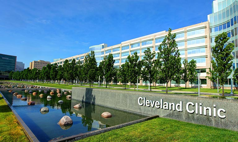 Visitors to the Cleveland Clinic and University Hospital